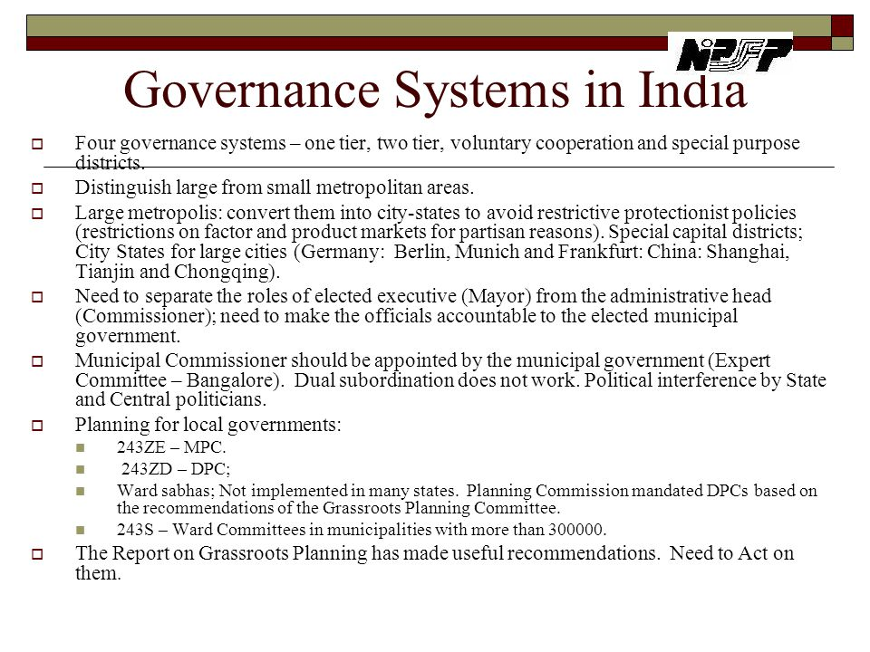Governance Systems in India