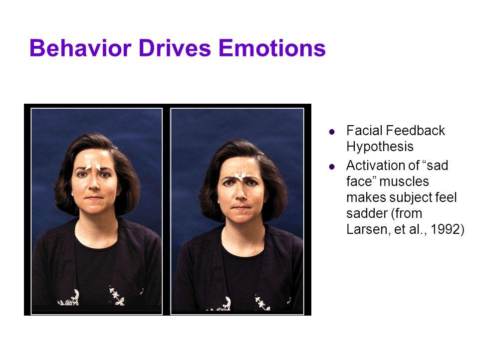 Behavior Drives Emotions