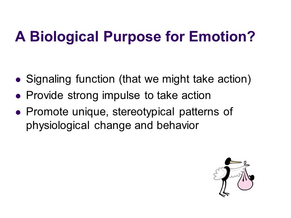 A Biological Purpose for Emotion