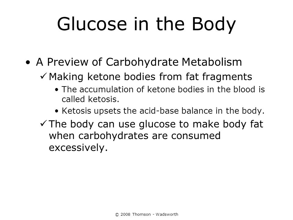 Glucose in the Body A Preview of Carbohydrate Metabolism