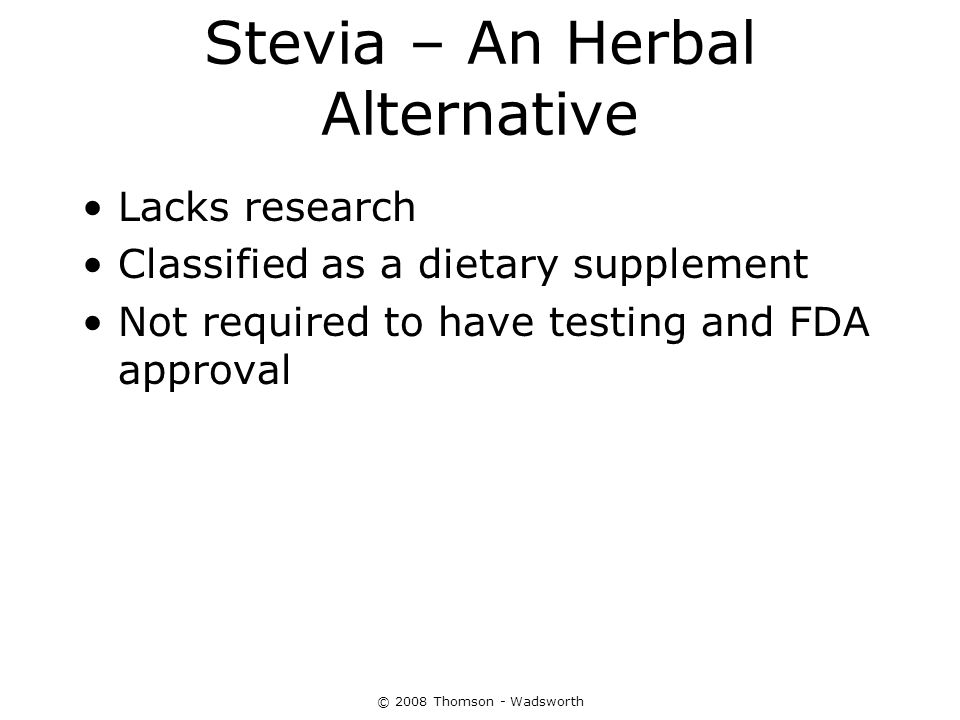 Stevia – An Herbal Alternative