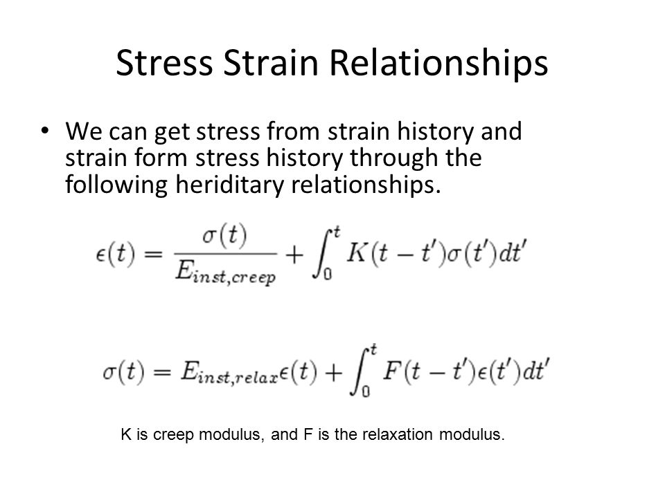 Stress Strain Relationships