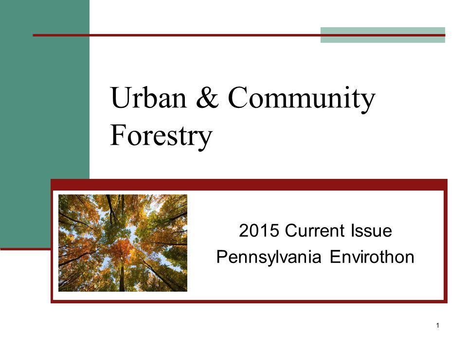 Urban & Community Forestry