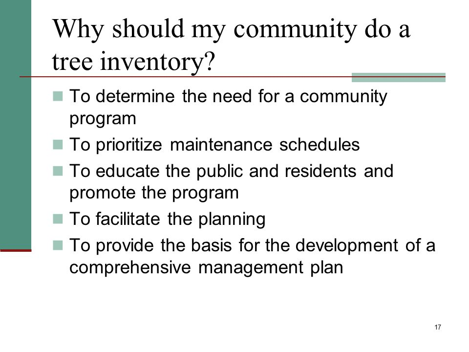 Why should my community do a tree inventory
