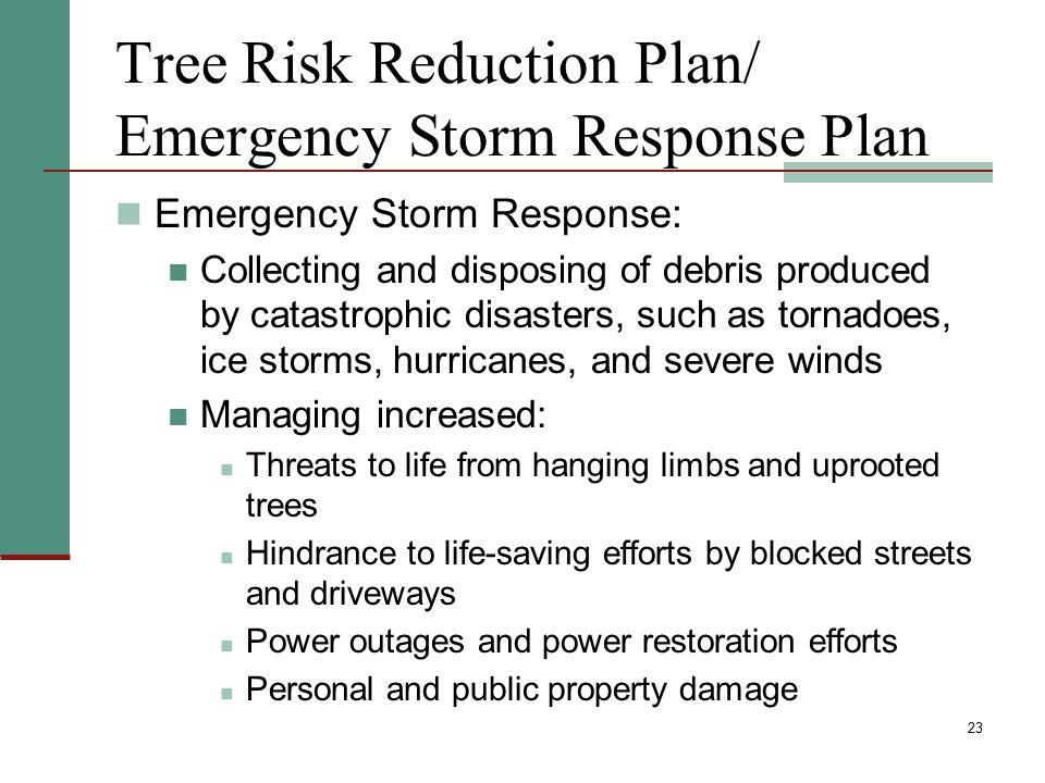 Tree Risk Reduction Plan/ Emergency Storm Response Plan