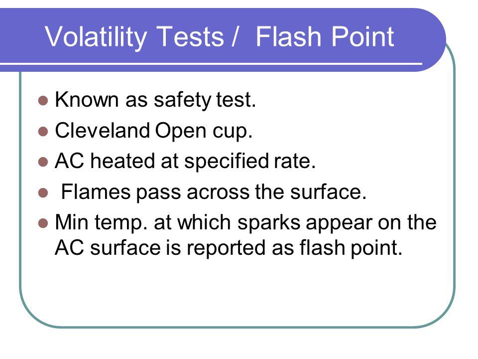 Volatility Tests / Flash Point