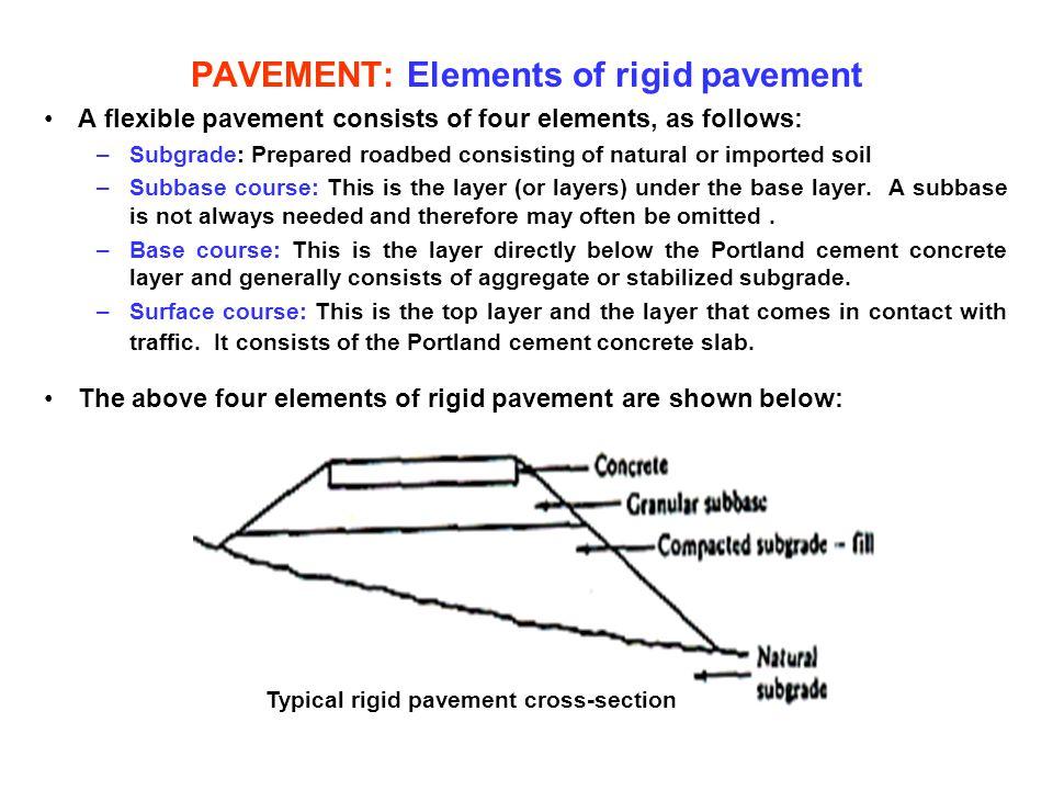 PAVEMENT: Elements of rigid pavement