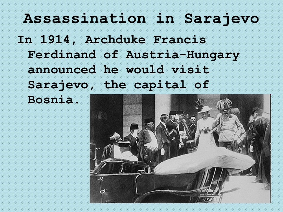 Assassination in Sarajevo