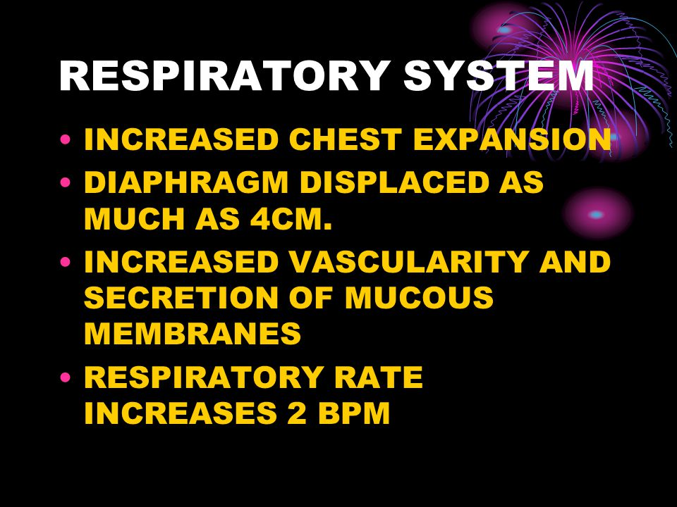 RESPIRATORY SYSTEM INCREASED CHEST EXPANSION