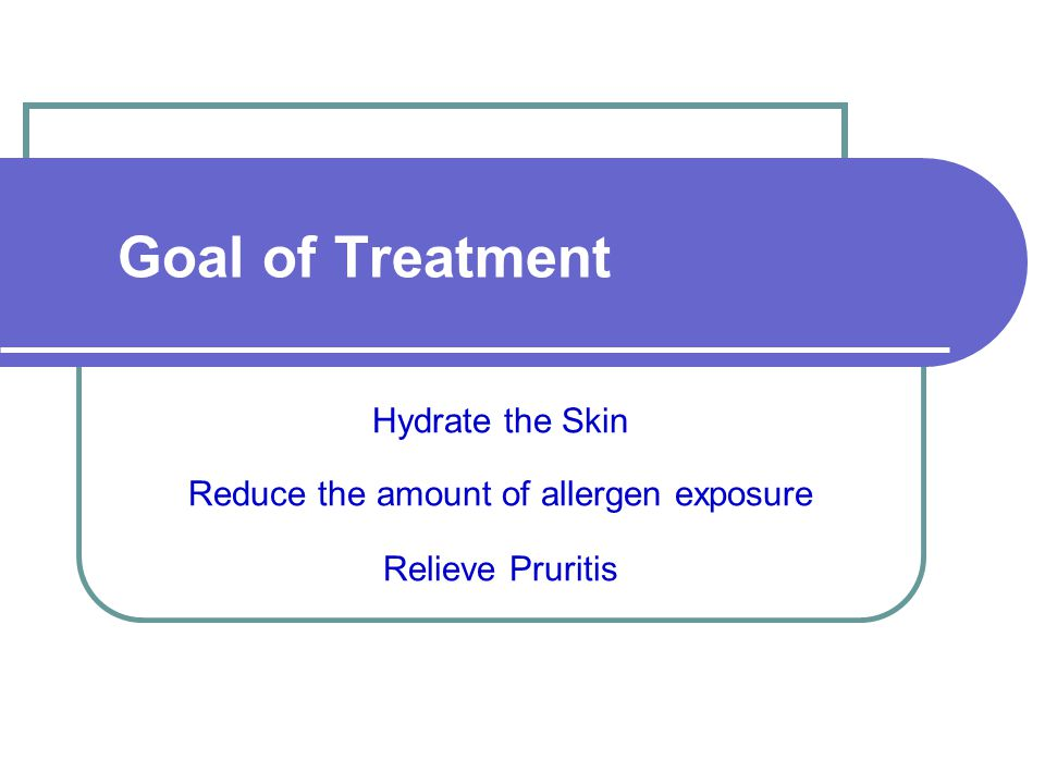 Reduce the amount of allergen exposure