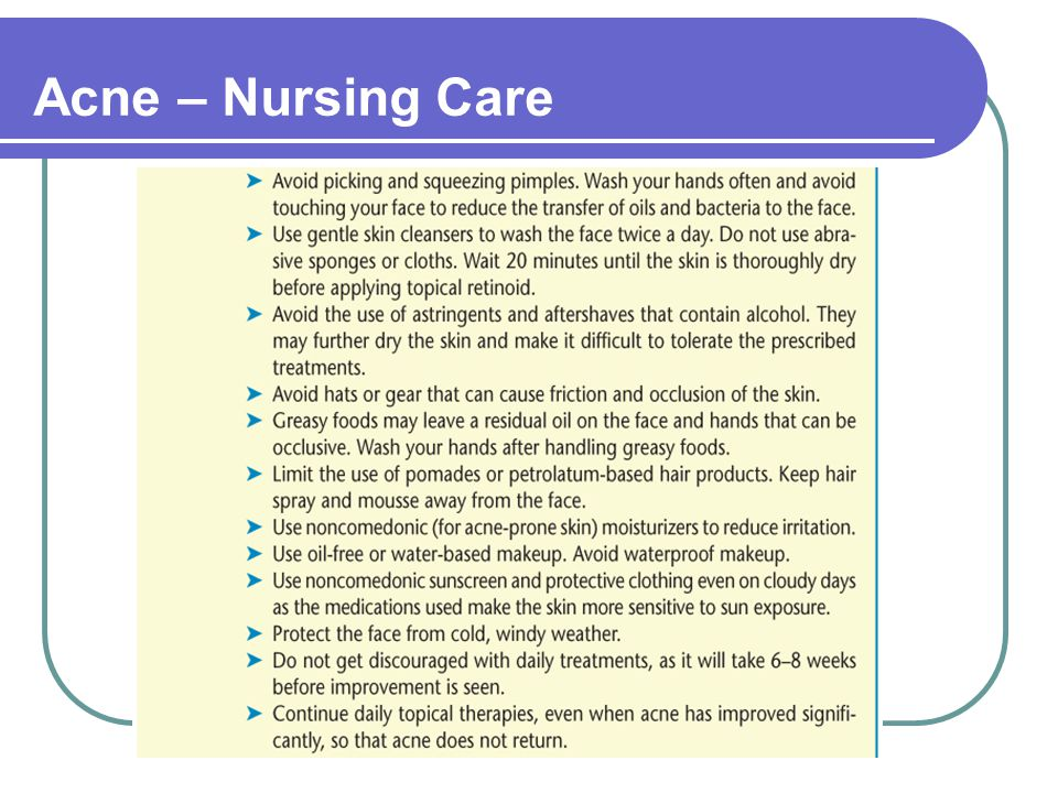 Acne – Nursing Care