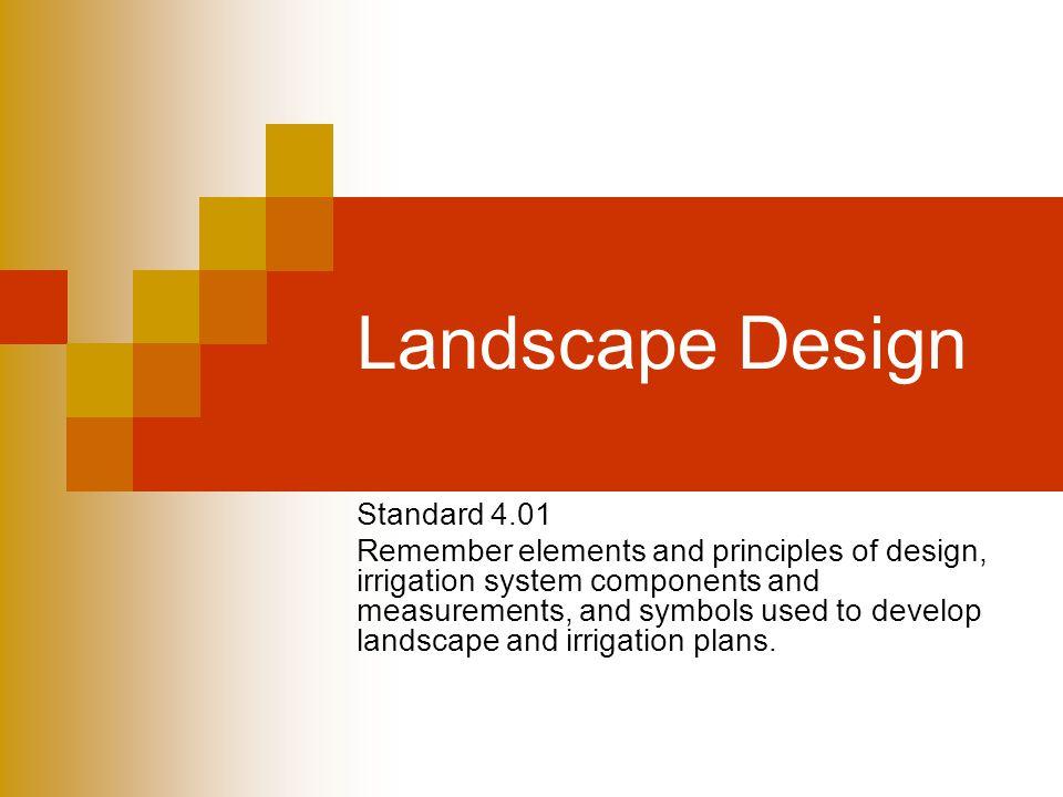 Landscape Design Standard 4.01