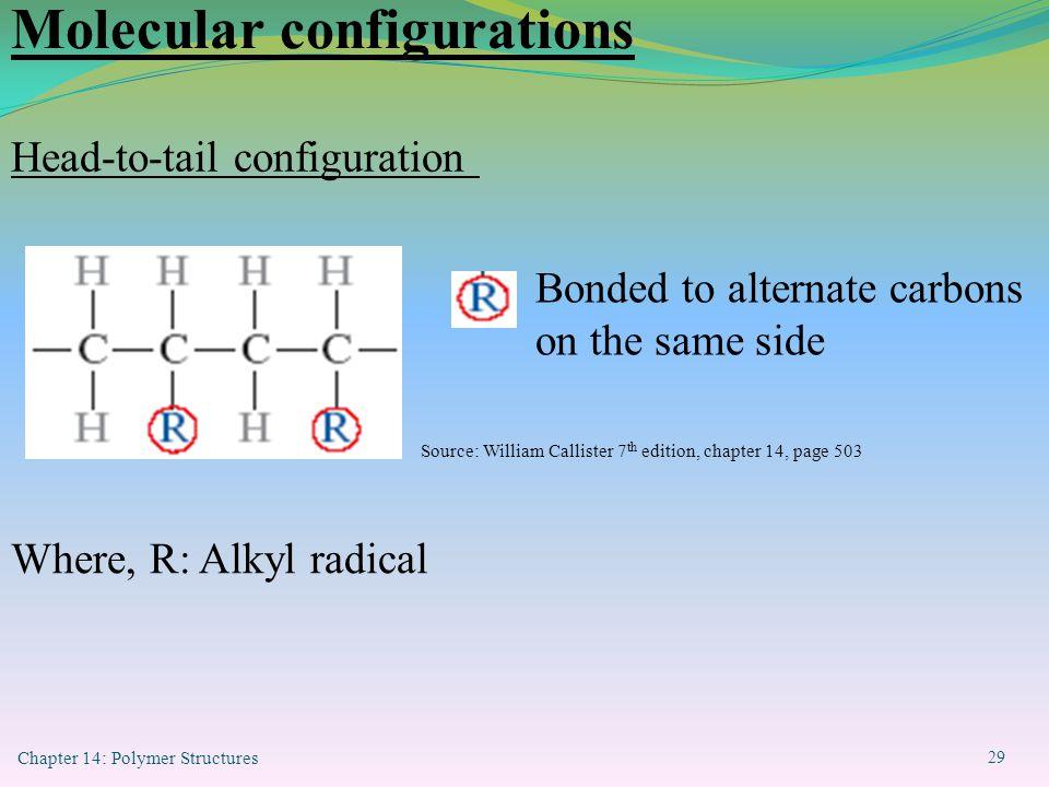 Molecular configurations