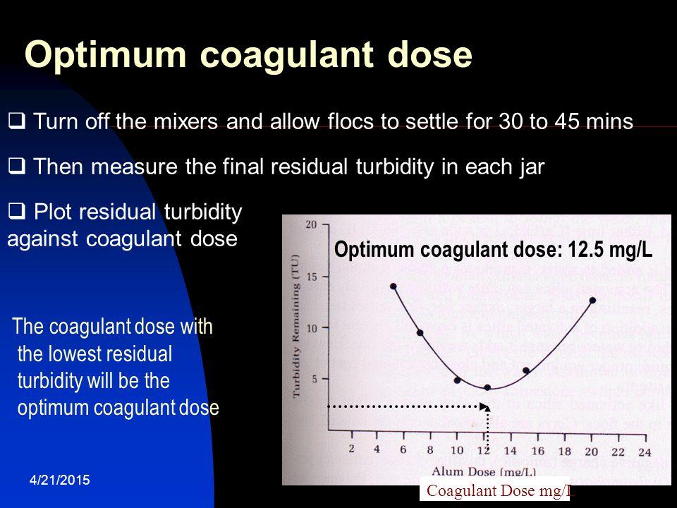 Optimum coagulant dose