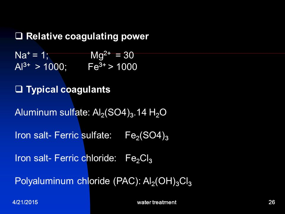 Relative coagulating power Na+ = 1; Mg2+ = 30