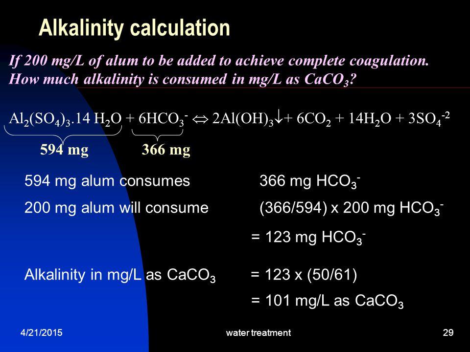 Alkalinity calculation