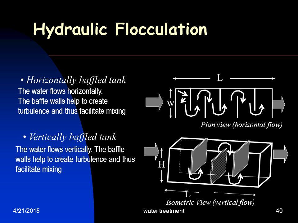 Hydraulic Flocculation