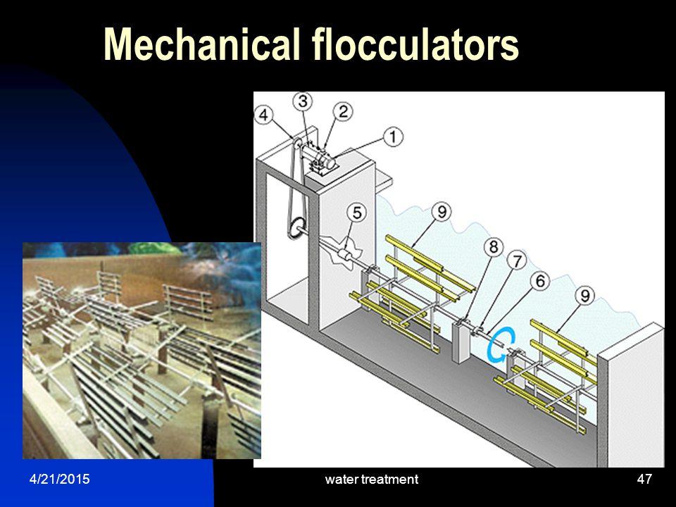 Mechanical flocculators
