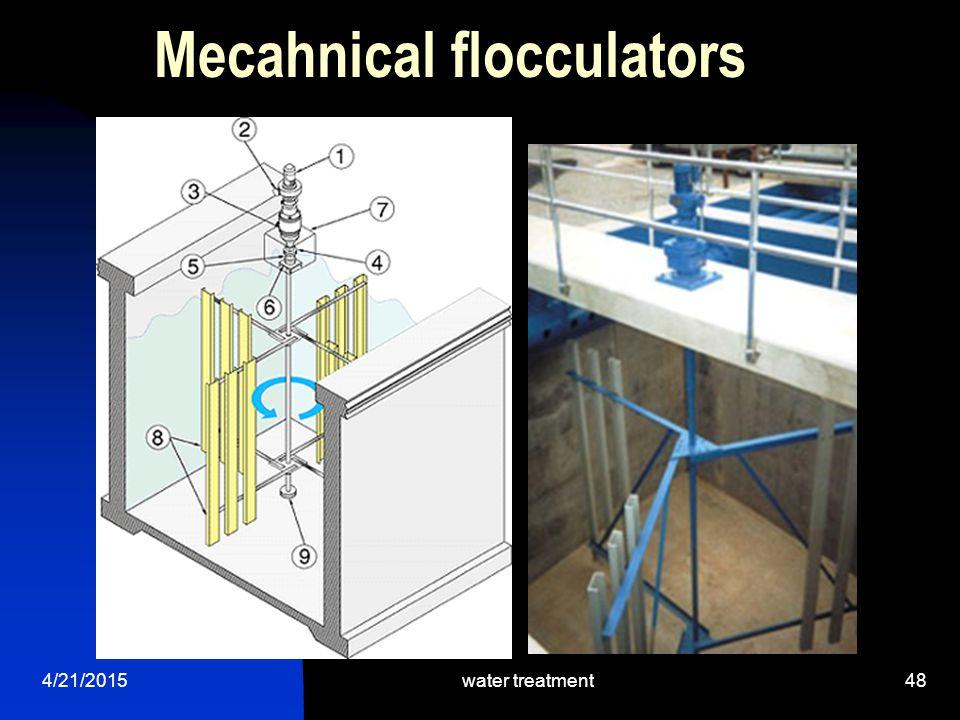 Mecahnical flocculators