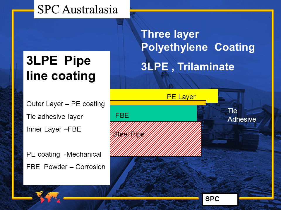 3LPE Pipe line coating Three layer Polyethylene Coating
