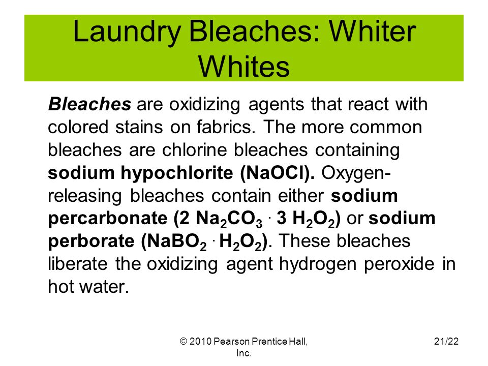 Laundry Bleaches: Whiter Whites