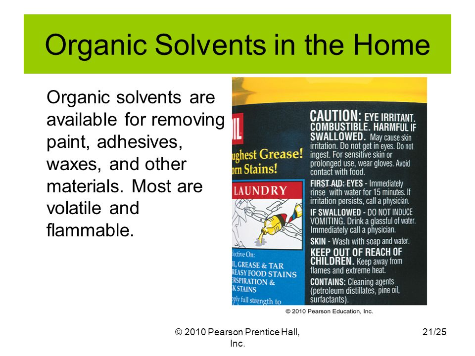 Organic Solvents in the Home
