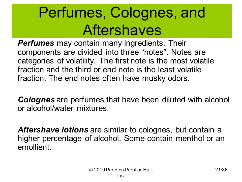 Perfumes, Colognes, and Aftershaves