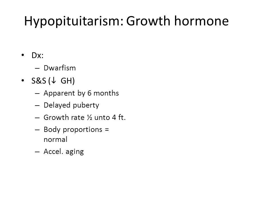Hypopituitarism: Growth hormone