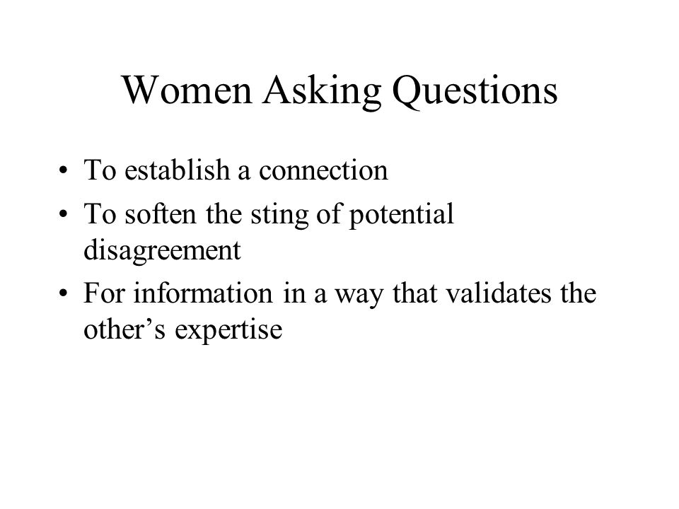 Women Asking Questions