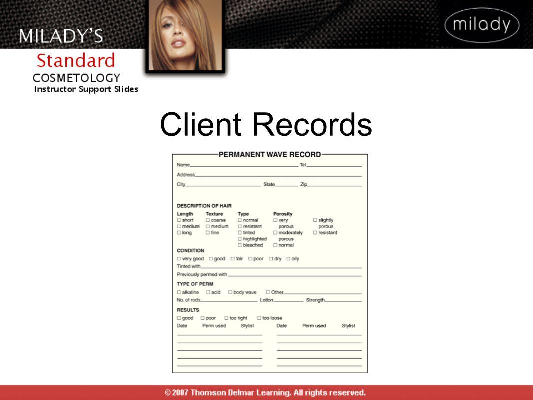 Client Records CLIENT RECORDS: Figure 18-10.