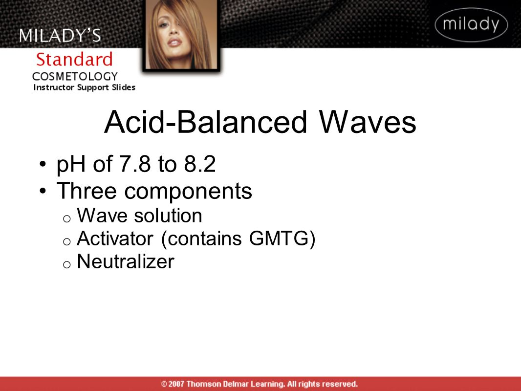 Acid-Balanced Waves pH of 7.8 to 8.2 Three components Wave solution