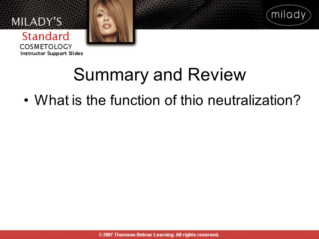 What is the function of thio neutralization