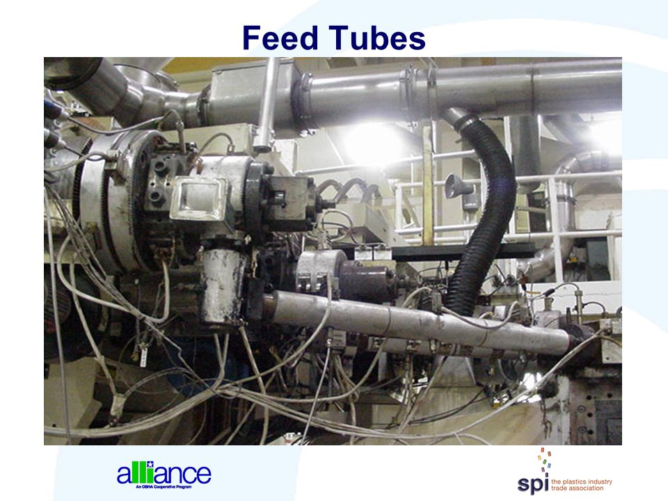 Feed Tubes Feed tubes act to convey the plastic melt from the respective extruder(s) to the feed block.
