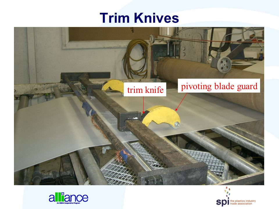 Trim Knives pivoting blade guard trim knife