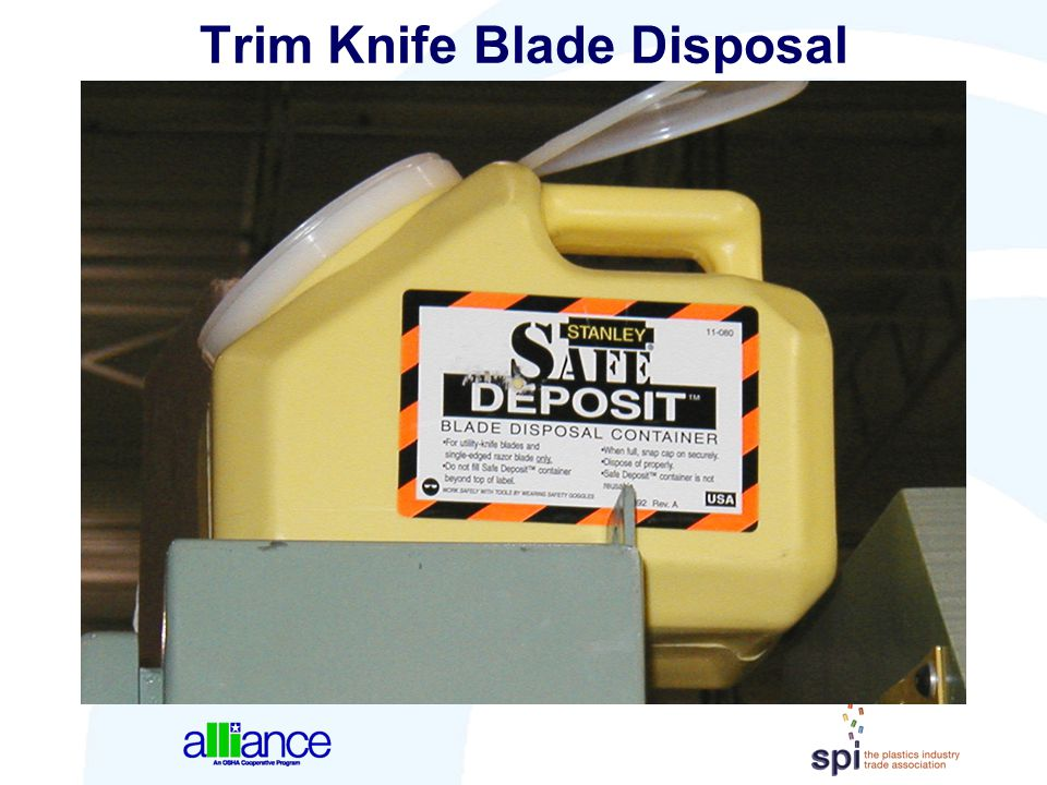 Trim Knife Blade Disposal