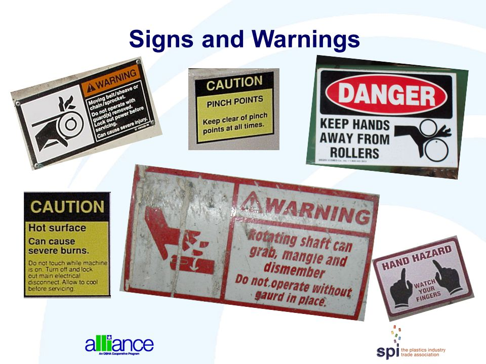 Signs and Warnings