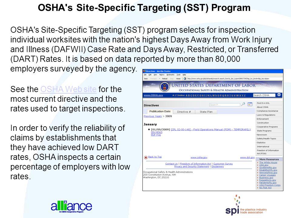 OSHA s Site-Specific Targeting (SST) Program