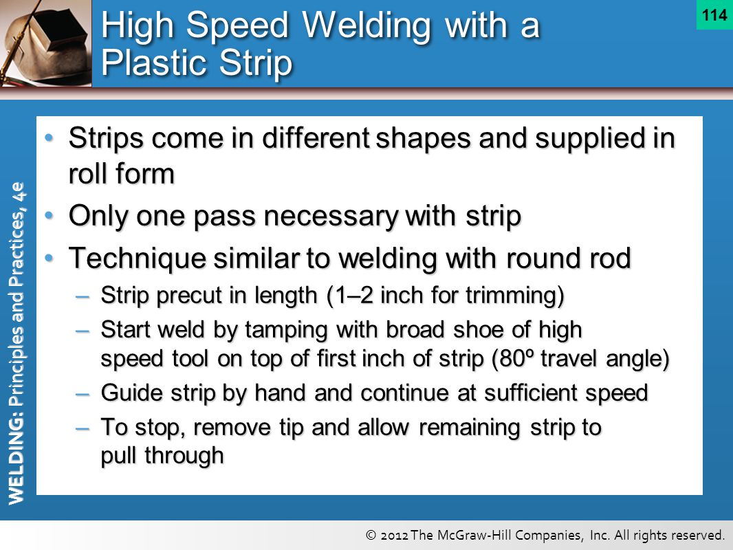 High Speed Welding with a Plastic Strip