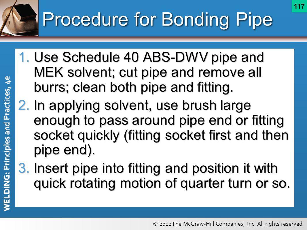 Procedure for Bonding Pipe