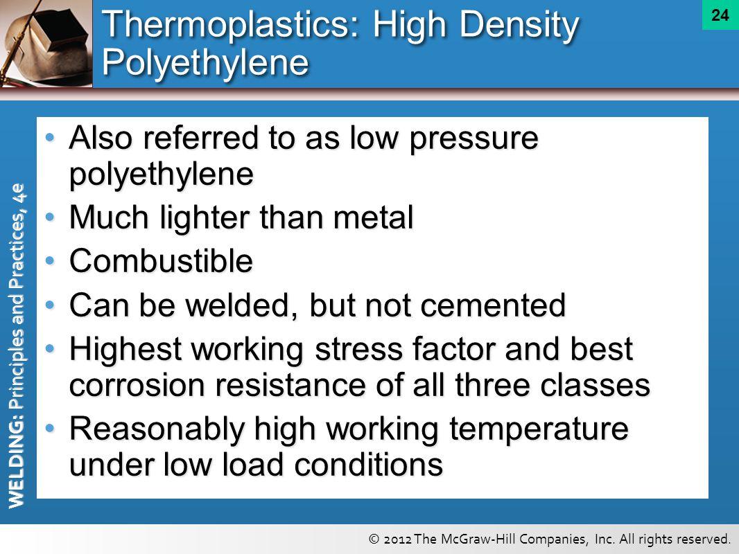 Thermoplastics: High Density Polyethylene