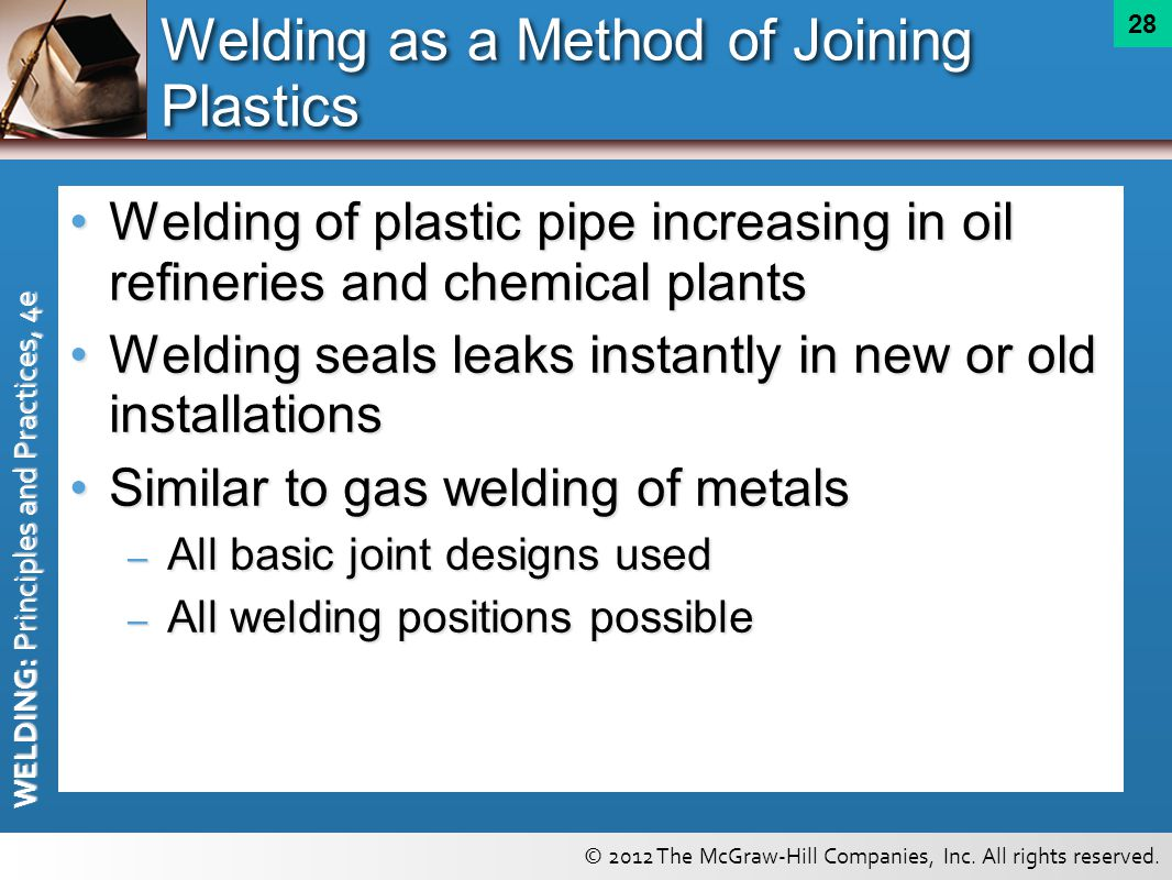 Welding as a Method of Joining Plastics