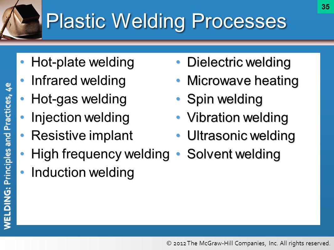 Plastic Welding Processes
