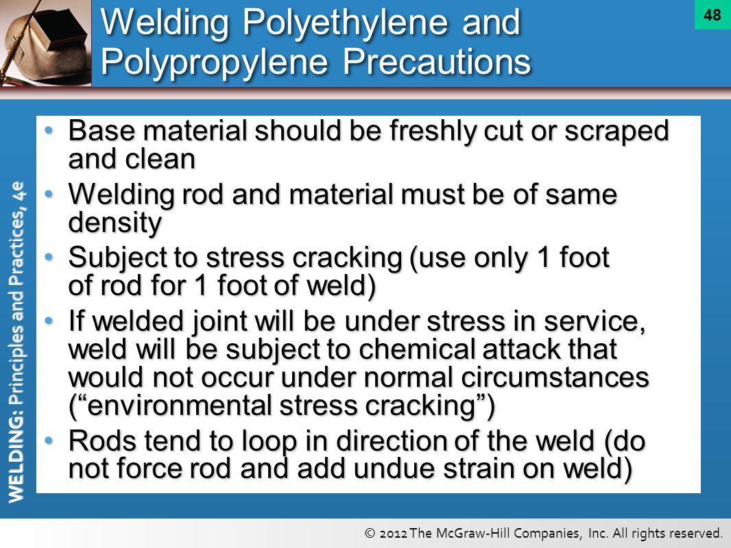 Welding Polyethylene and Polypropylene Precautions