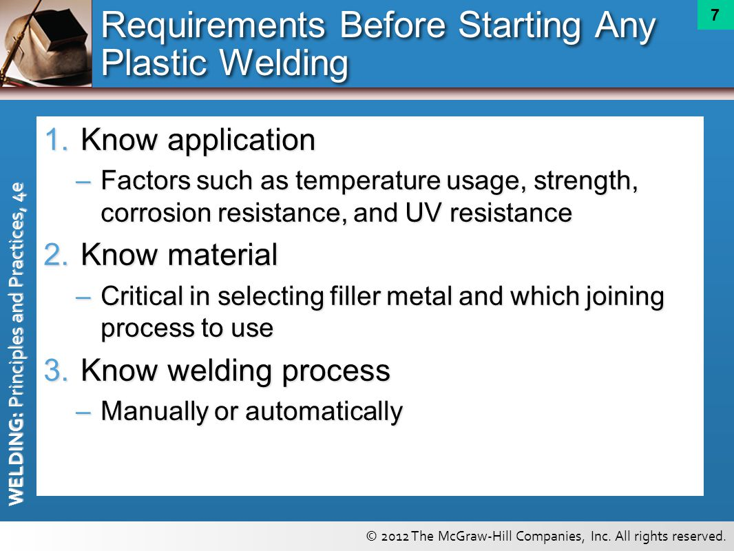 Requirements Before Starting Any Plastic Welding