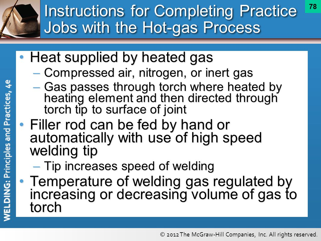 Instructions for Completing Practice Jobs with the Hot-gas Process
