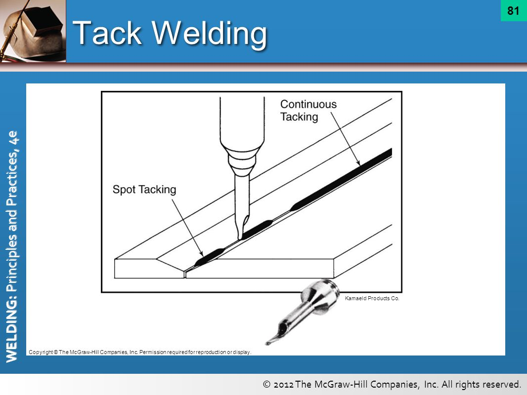 Tack Welding Kamaeld Products Co.