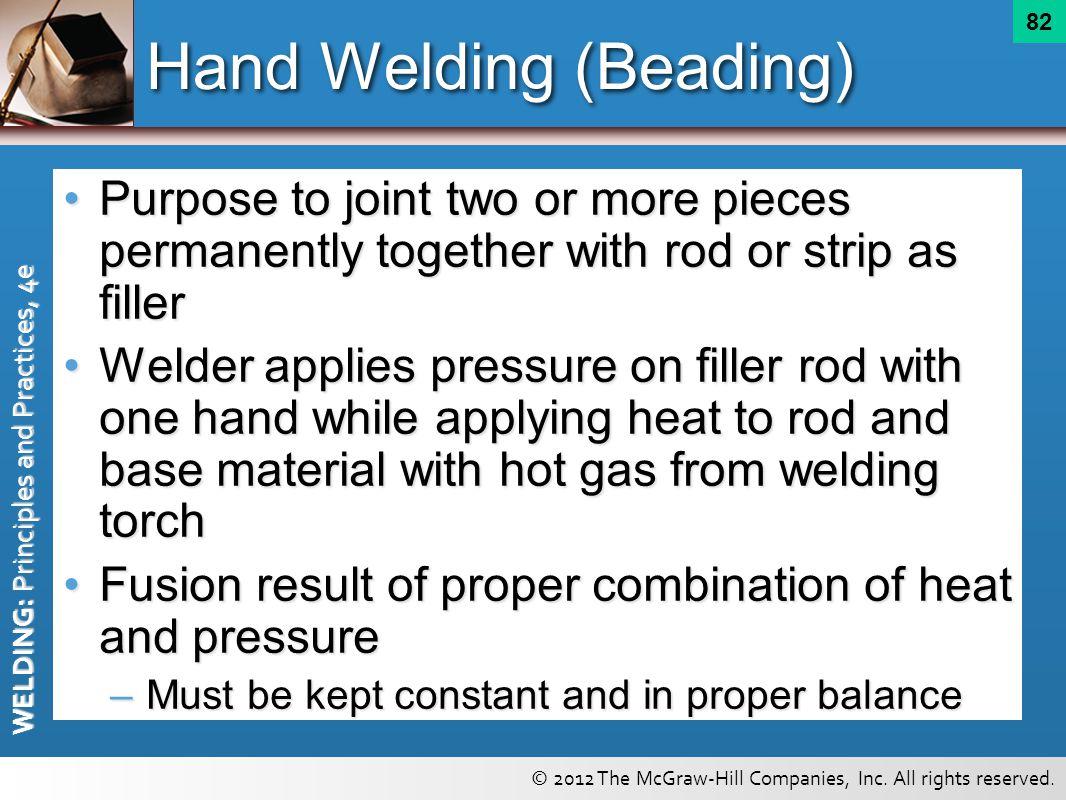 Hand Welding (Beading)