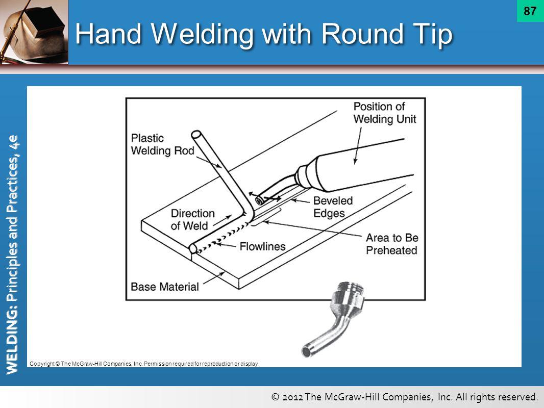 Hand Welding with Round Tip