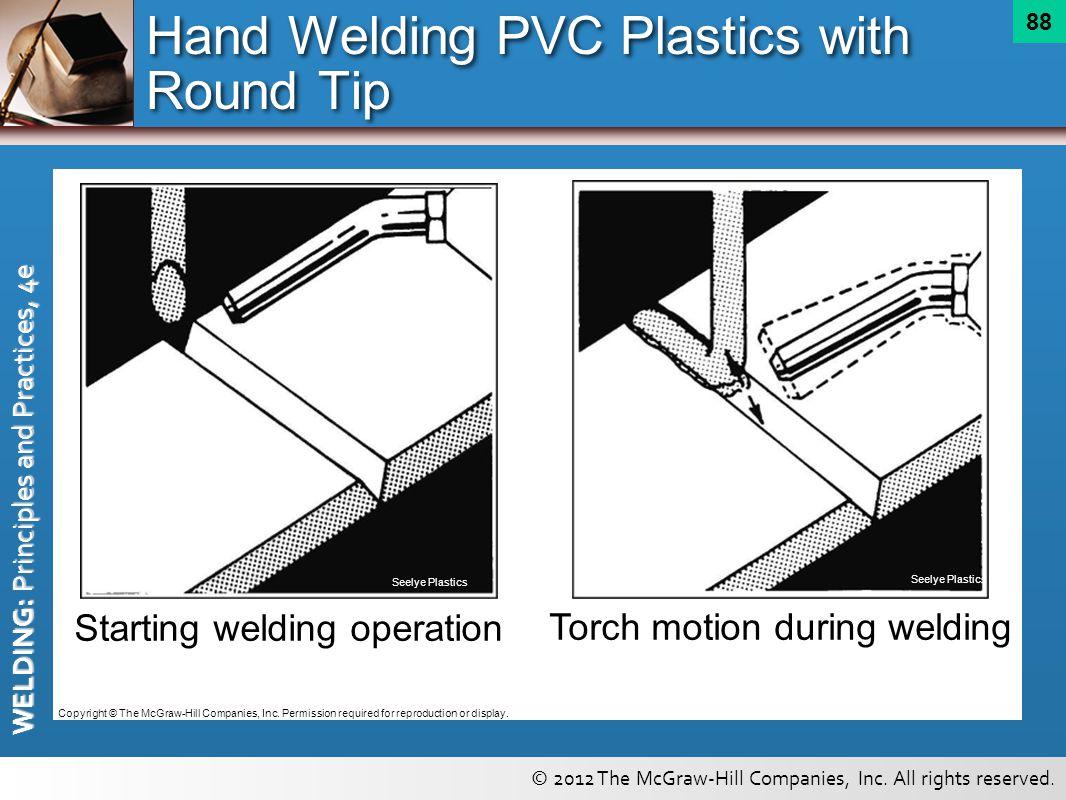 Hand Welding PVC Plastics with Round Tip