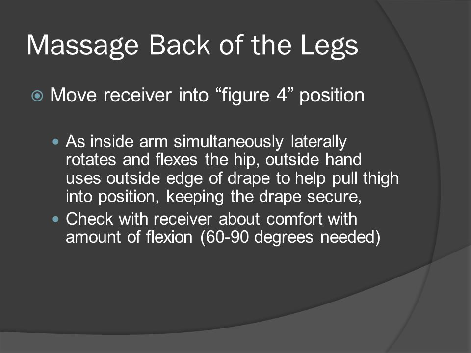 Massage Back of the Legs